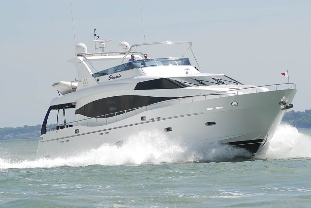 The Samaric Motor Yacht Cruising Off the coast of Spain.