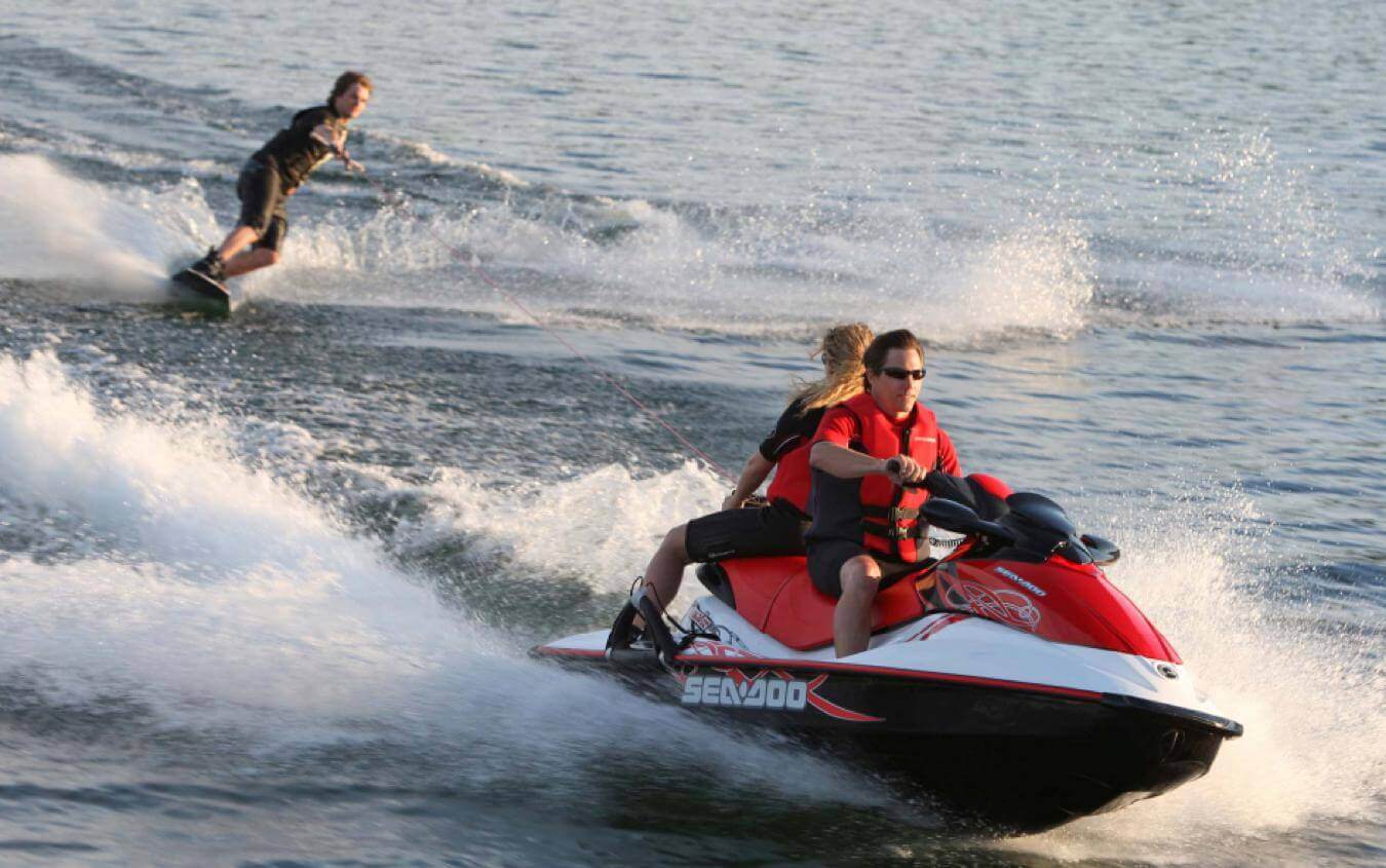 The Seadoo Wake Jetski in action.