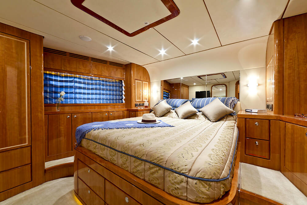 The VIP cabin on board Samaric Motor Yacht