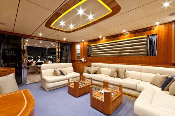 Luxury interior in the Samaric Motor Yacht.